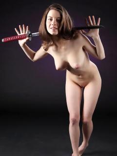 Danica With A Samurai Sword